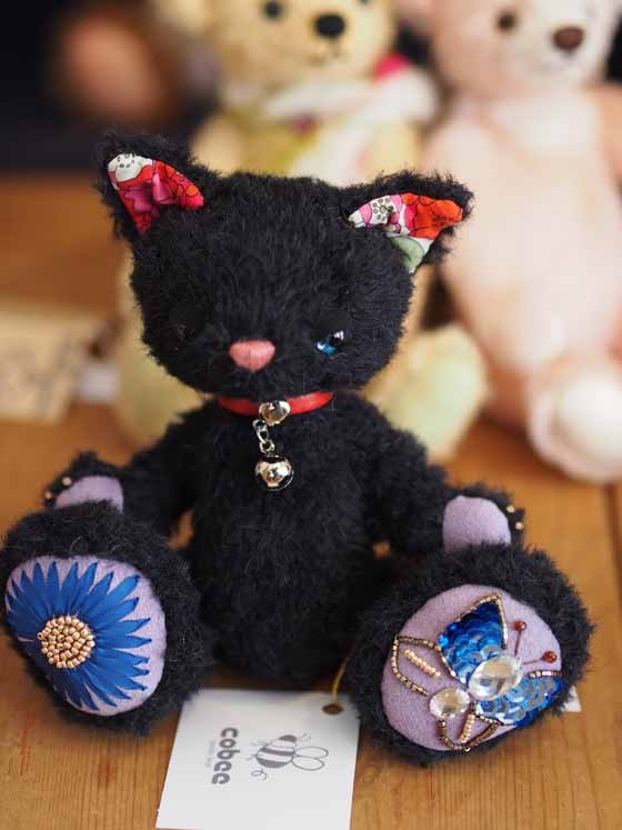 作品no.0008 18cm黒猫 2013年6人展展示