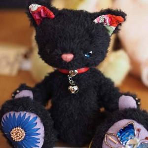 作品no.0008 18cm黒猫 アイキャッチ