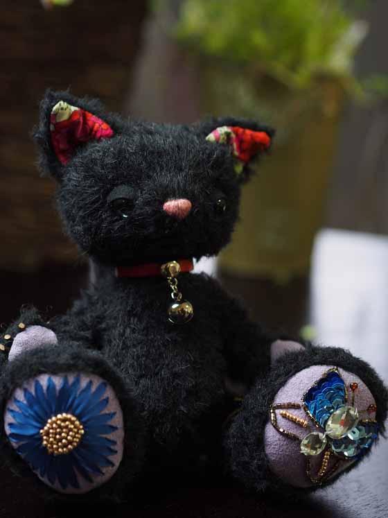 作品no.0008 18cm黒猫 全体