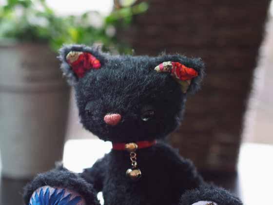 作品no.0008  18cm黒猫 顔