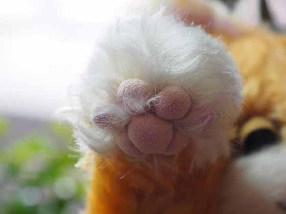 作品no.0013 まねき猫 前足の肉球